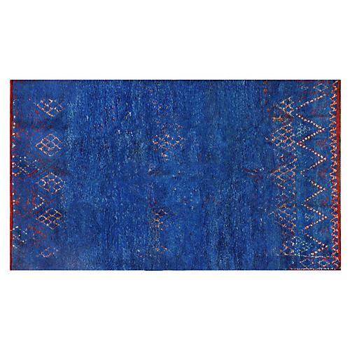 "Blue Moroccan Rug, 6'5 x 10'10"""