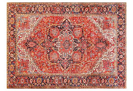 Persian Heriz Carpet, 9' x 13'