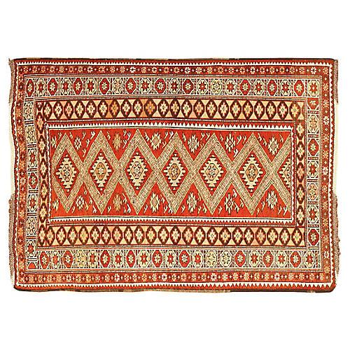 "Tribal Turkish Rug, 3'9"" x 5'4"""