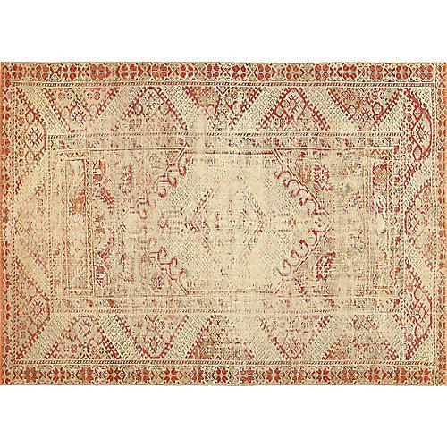 """Antique Turkish Ghiordes Rug, 4' x 5'7"""""""