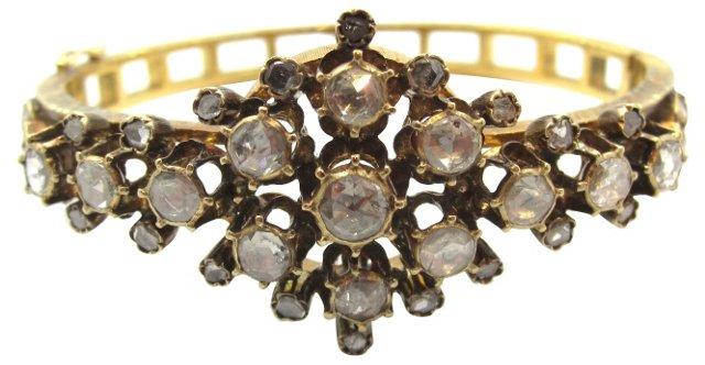 Georgian Gold & Diamond Bracelet