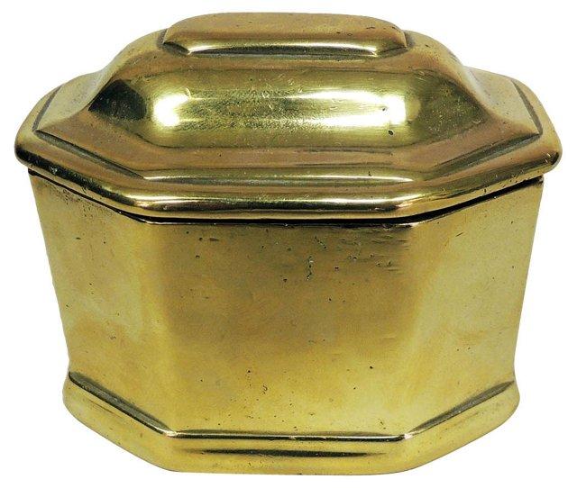 19th-C. Bronze Tea Caddy Box