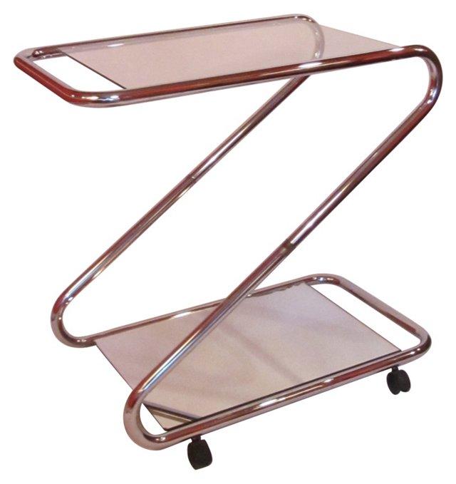 Chrome Z Bar Cart