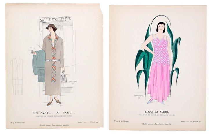 Madeleine Vionnet Fashion, 1924: Pair
