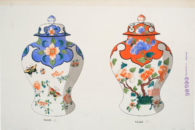 Hand-Painted Porcelain Urn Design