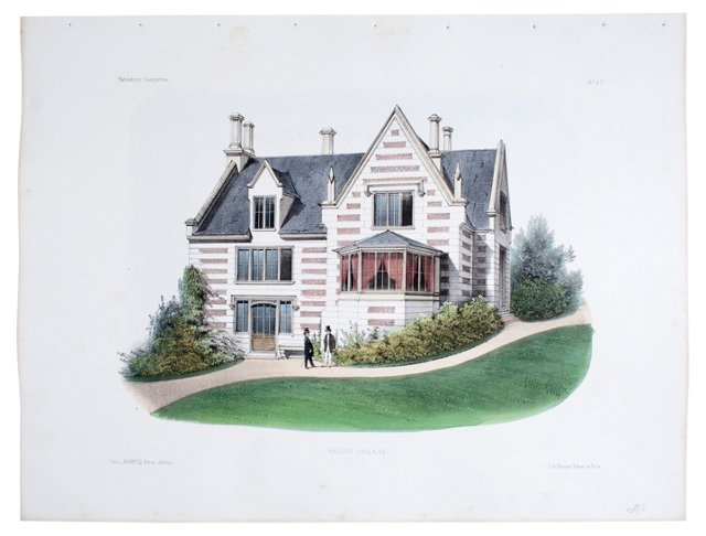 English Country  House, 1855