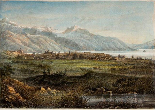 Hand-Colored Salt Lake City View