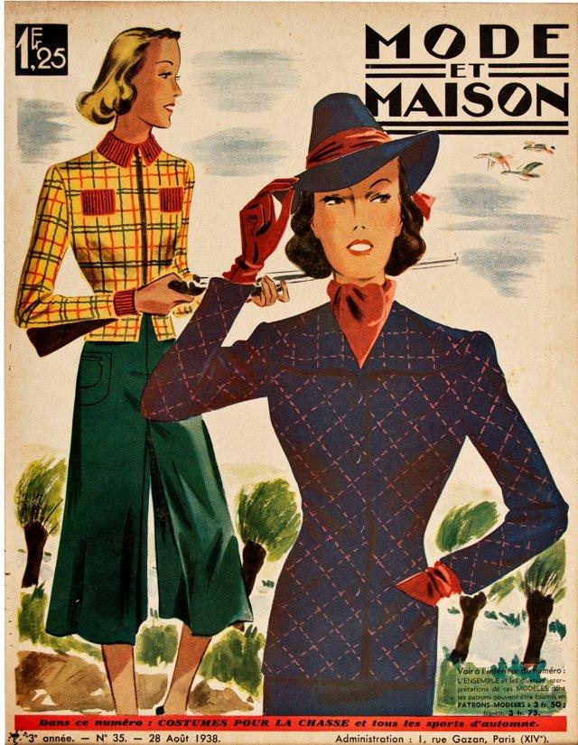 French Hunting Fashion, 1938