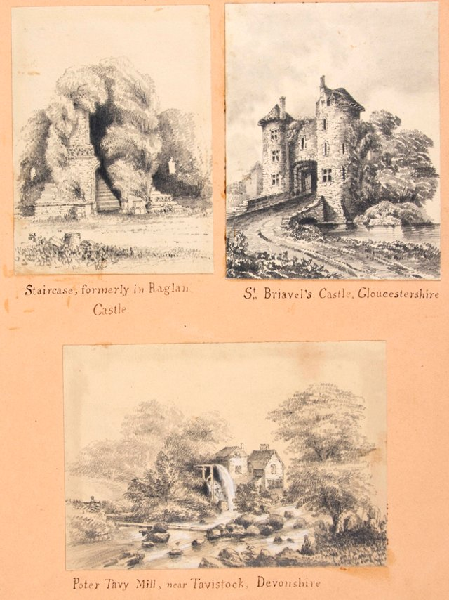 19th-C. Drawings of British Castles