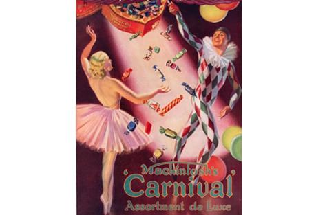 Christmas Candies w/ Ballerina, 1935
