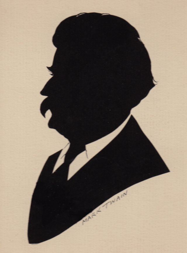 Silhouette of  Mark Twain, C. 1910