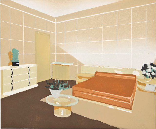 Modern Parisian Bedroom Design Pochoir