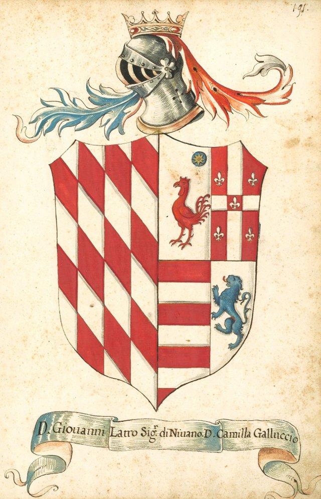 Latro & Gallucci Coat of Arms, C. 1780