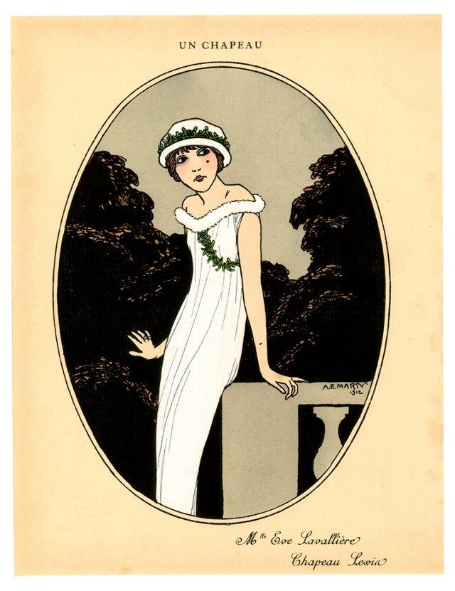 Art Deco Fashion Pochoir, 1912