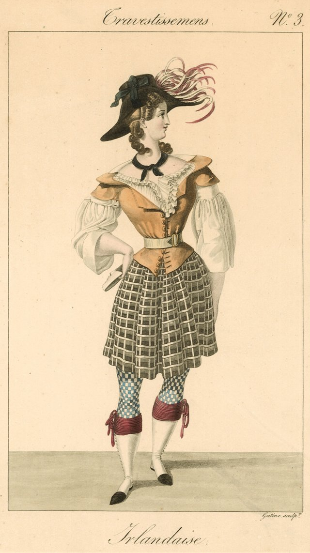 Irish Costume Print, C. 1825
