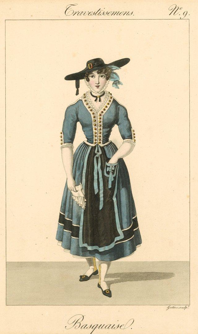 Basque Costume Print, C. 1825