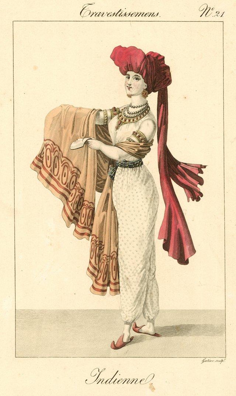Indian Costume Print, C. 1825