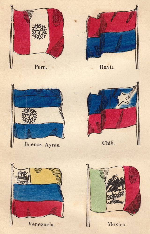 South American Nautical Flags, 1857