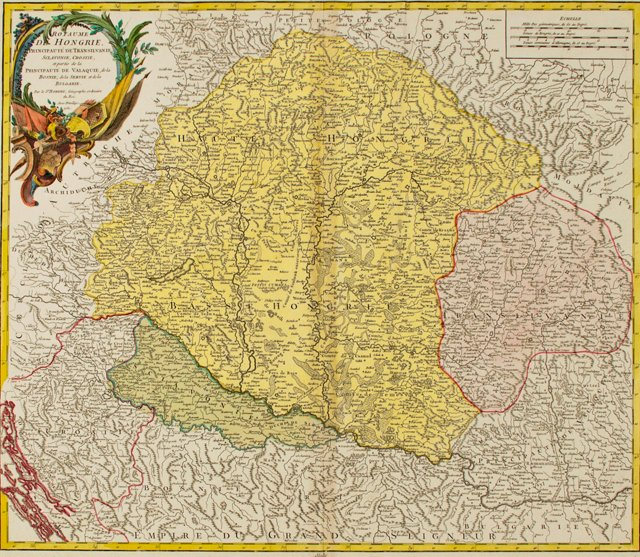 Map of Hungary & the Balkans, 1751
