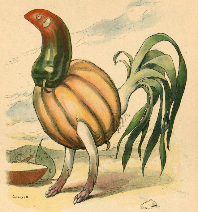 Rooster Made of Vegetables