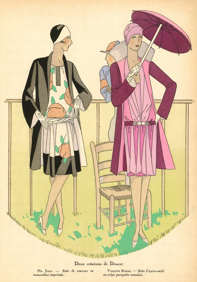 Art Deco Fashion at the Races, C. 1922