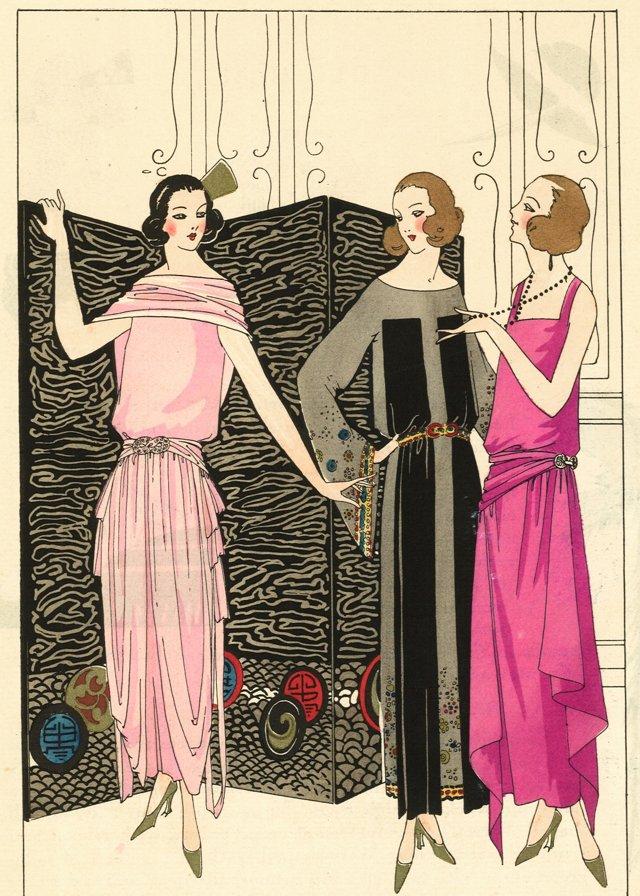 Art Deco Dress Designs by Patou, C. 1922