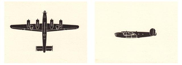 B-24 Liberator Silhouettes, Pair