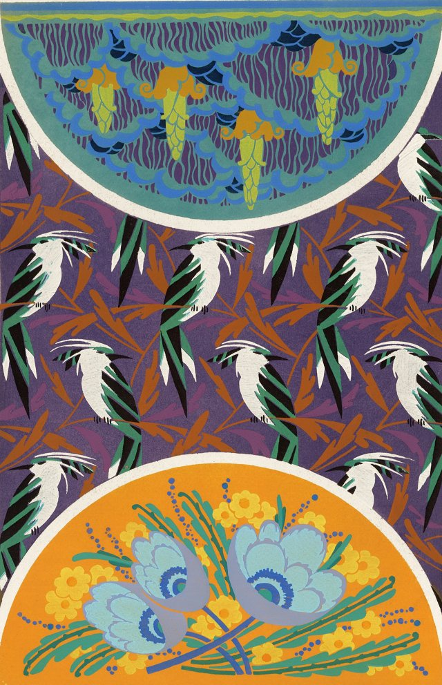 Art Deco Tropical Birds, C. 1921