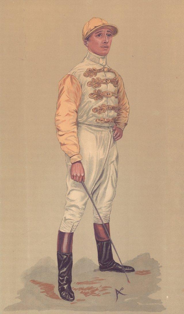 Jockey Lithograph, C. 1890