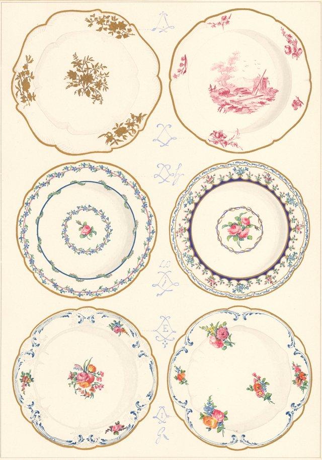 Sèvres Plate Designs, 1892