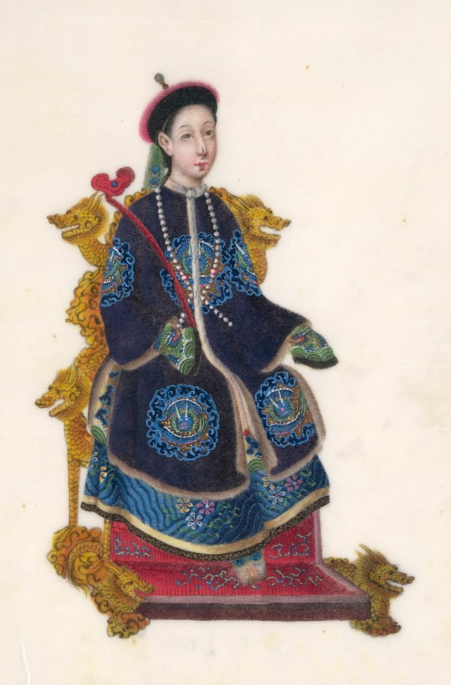 Chinese Gouache of an Empress, C. 1830