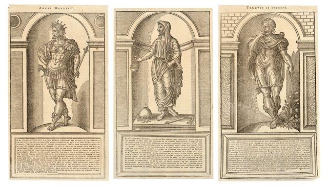 18th-C. Engravings of Roman Kings, S/3