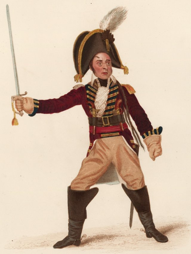 Actor as Baron Munchausen, 1825