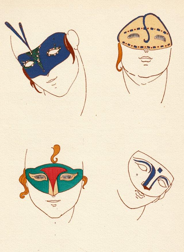 Deco  Parisian Masque Designs, 1914