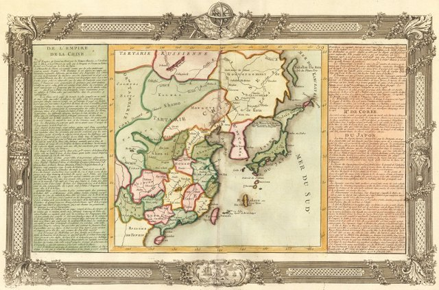 Map of China & Japan, C. 1765