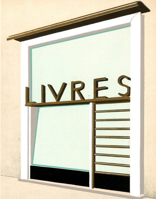 Deco Parisian Bookstore Design, C. 1936