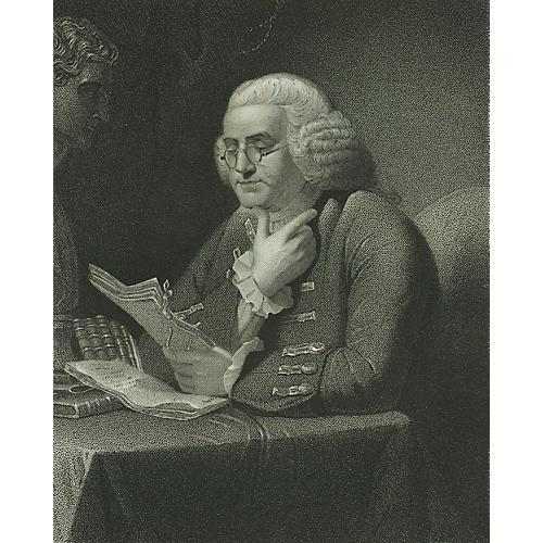 Benjamin Franklin Portrait, C. 1850