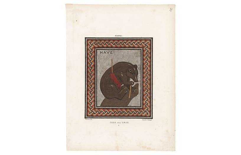 Pompeiian Bear Mosaic, 1877
