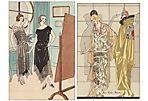Art Deco Evening Dresses, C. 1922, Pair