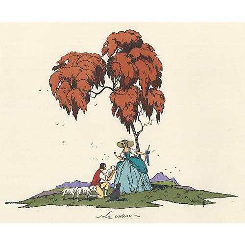 Shepherdess & Her Lover, C. 1920s