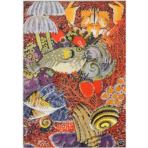 Coral Reef w/ Fish by Meheut, 1934