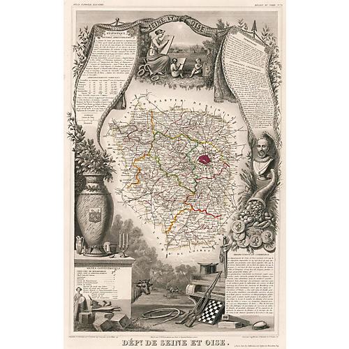 Area Around Paris, C. 1850