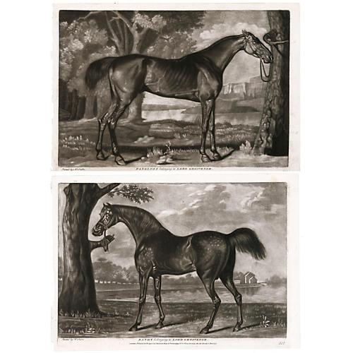 Pair of Horses by George Stubbs, C. 1790