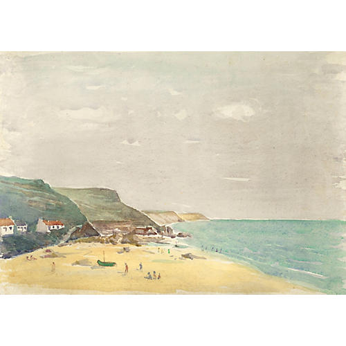 English Seaside Watercolor
