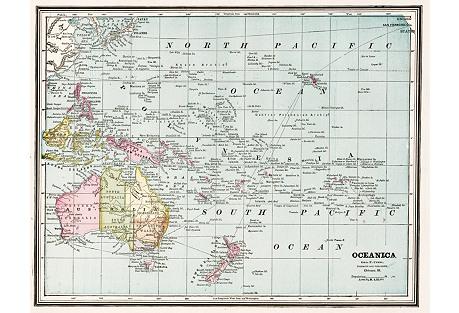 Oceanica & Australia, 1889