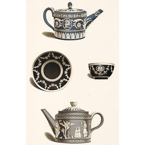 Wedgwood Tea Set Lithograph, 1898