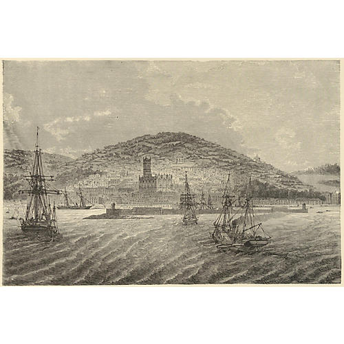 View of Penzance, England, 1888