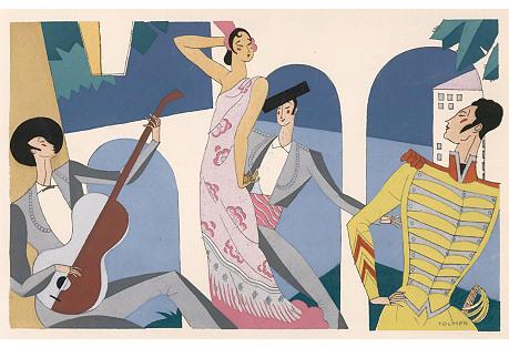 Spanish   Troubadors & Dancer, C. 1930