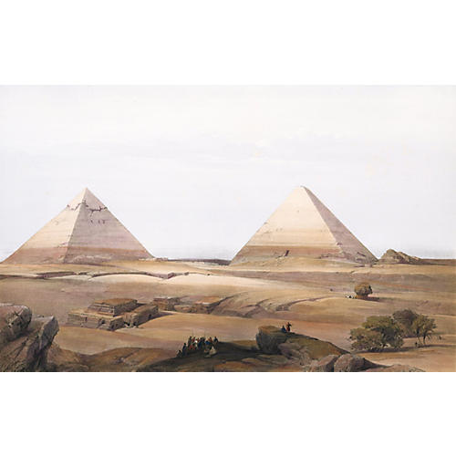 The Pyramids of Giza by Roberts, C. 1845
