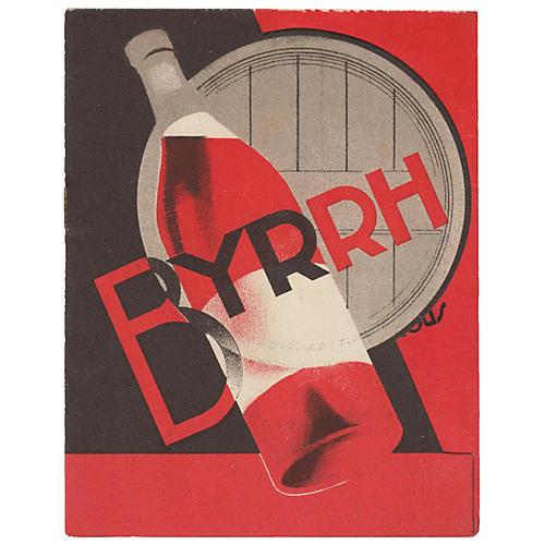 Art Deco Liquor Bottle Pamphlet, C. 1930